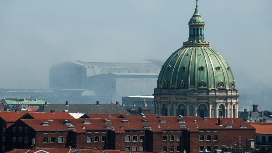Bild: Eurovisions Songcontest Gebäude und Frederikskirche in Kopenhagen