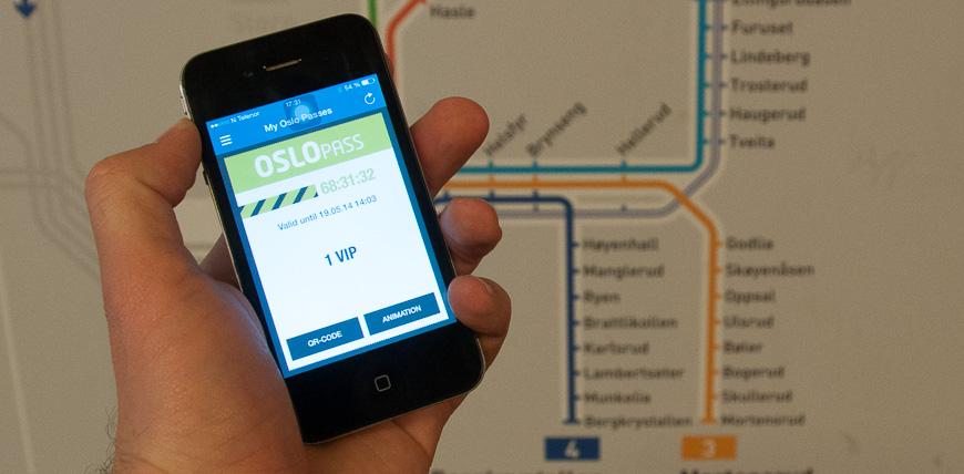 Bild: Oslo Pass App in der Metro