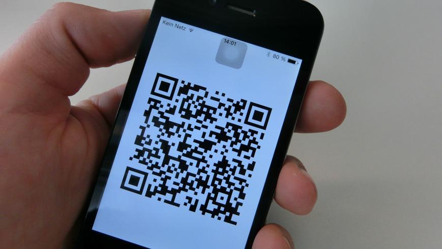 Bild: QR Code in der Oslo Pass App