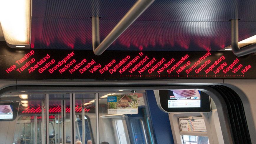 Bild: S-Bahn Kopenhagen Fahrgastinformation