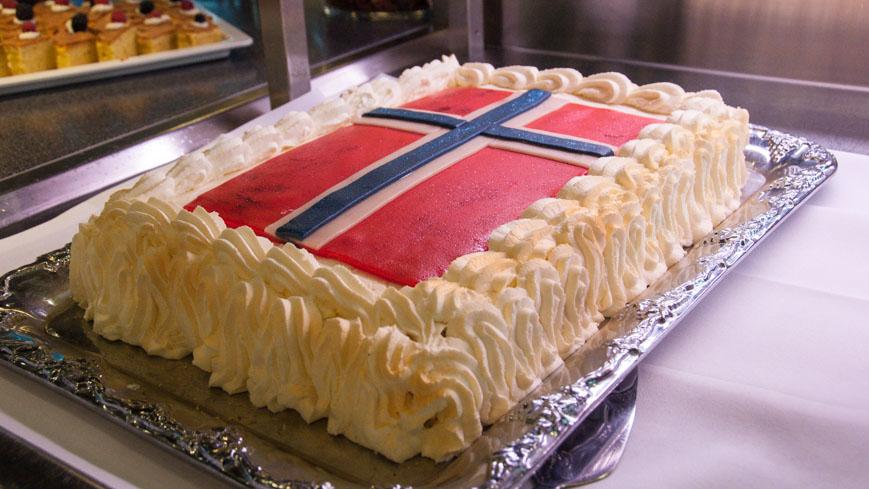 Bild: DFDS Norwegen Torte
