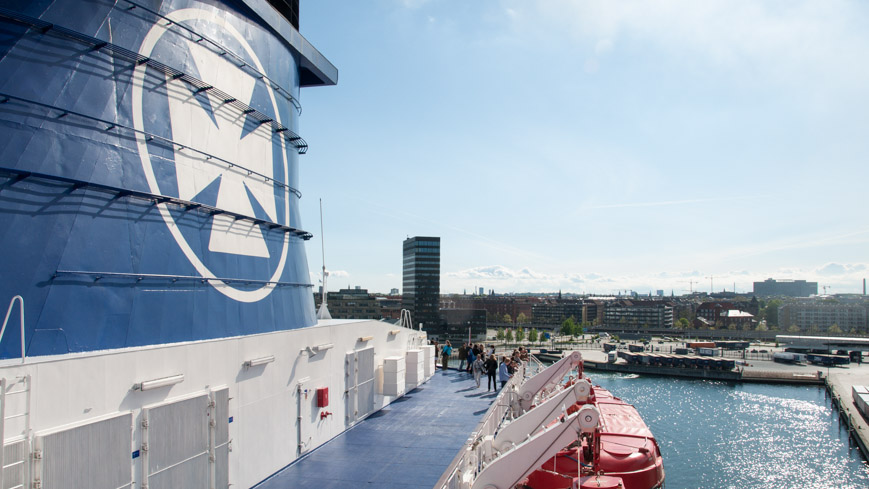 Bild: DFDS Seaways Crown in Kopenhagen