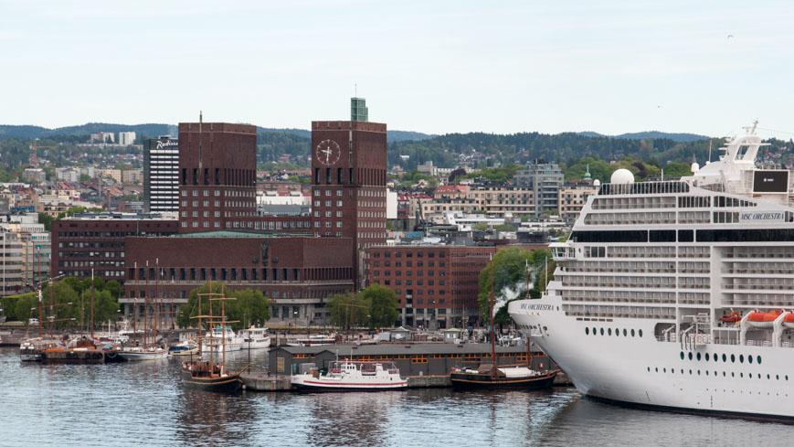 Bild: Rathaus in Oslo