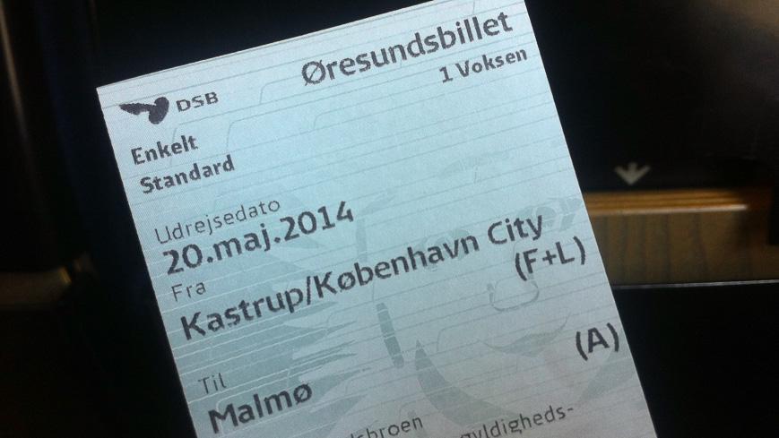 Bild: Fahrschein Kopenhagen - Malmö