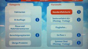 Bild: Produktauswahl Fahrkartenautomat Belgien