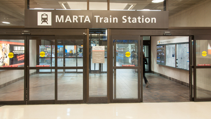 Bild: MARTA Station am Airport in Atlanta