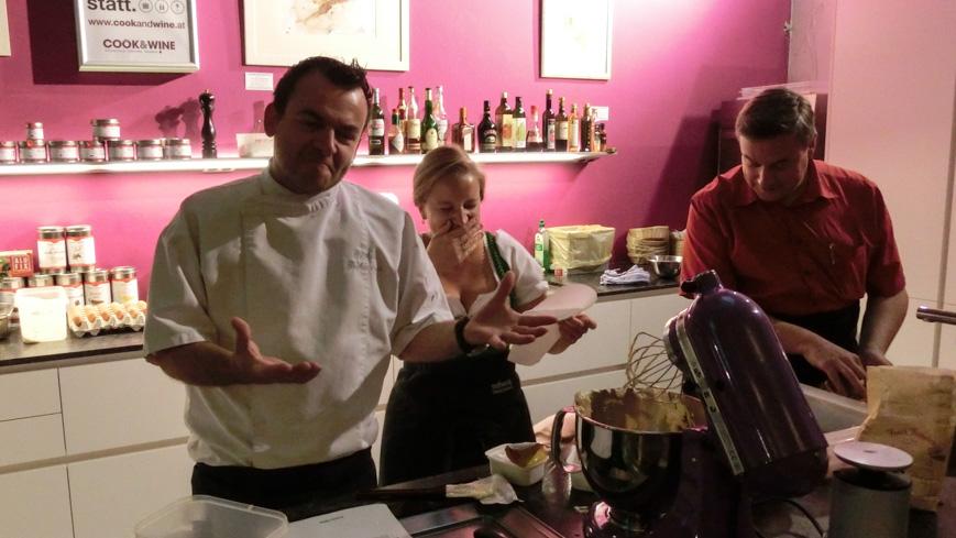 Bild: Günther und Elena im Cook and Wine
