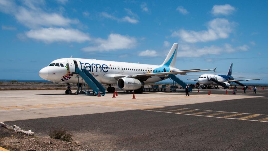 Bild: Flughafen Baltra auf den Galapagosinseln