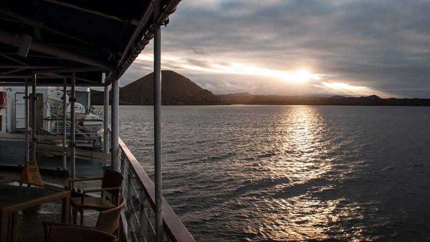 Bild: Sonnenuntergang auf den Galapagosinseln