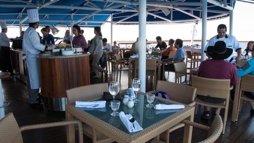 Bild: Mittagessen auf der La Pinta