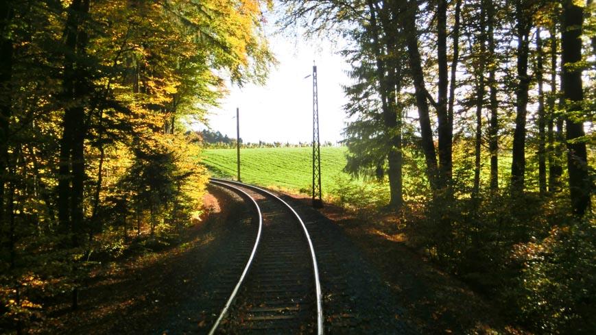 Bild: Gleichenberger Bahn (Steiermärkische Landesbahn) im Wald