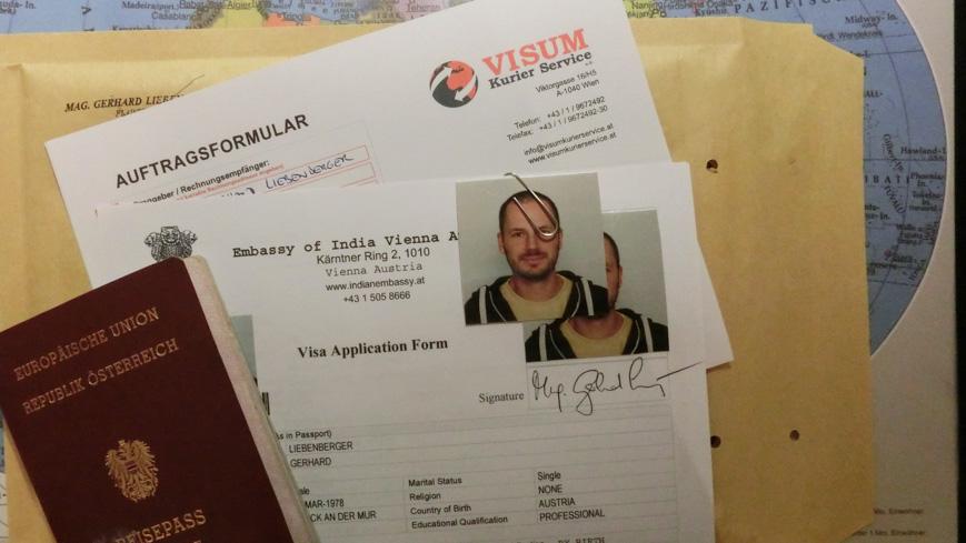 Bild: Versand des Visumantrags für Indien