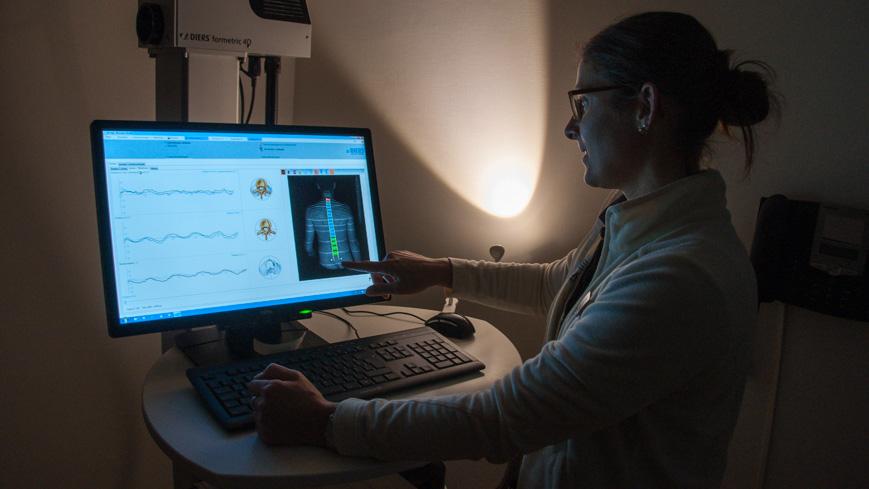Bild: DIERS Wirbelsäulen- und Haltungsanalyse im Medical Center Oberwaid