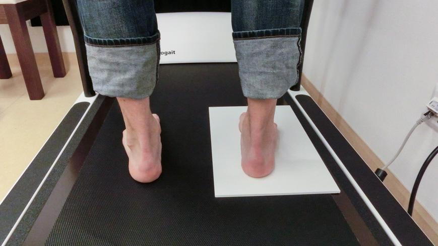 Bild: Korrektur bei DIERS Wirbelsäulen- und Haltungsanalyse