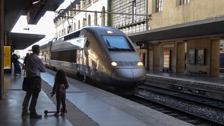 Bild: TGV in Marseille (c) Gudrun Krinzinger