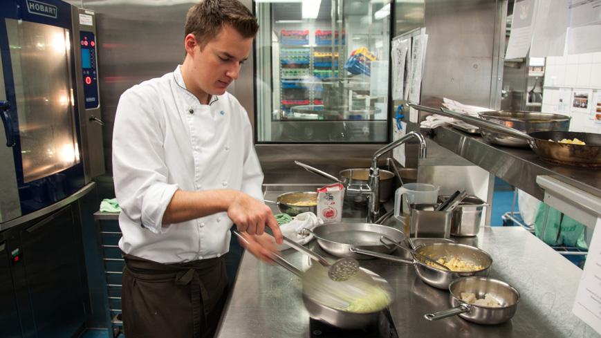 Bild: Küche im Kurhaus Oberwaid