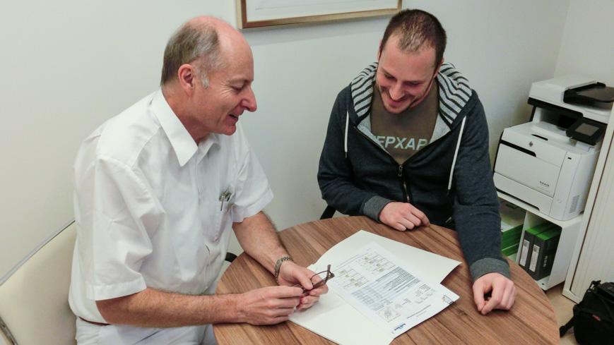 Bild: Dr. Thomas Wertgen und Gerhard Liebenberger im Kurhaus Oberwaid