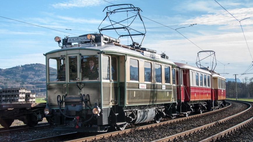 Bild: Grüne Elektrische als Nostalgiezug der Salzburger Lokalbahn