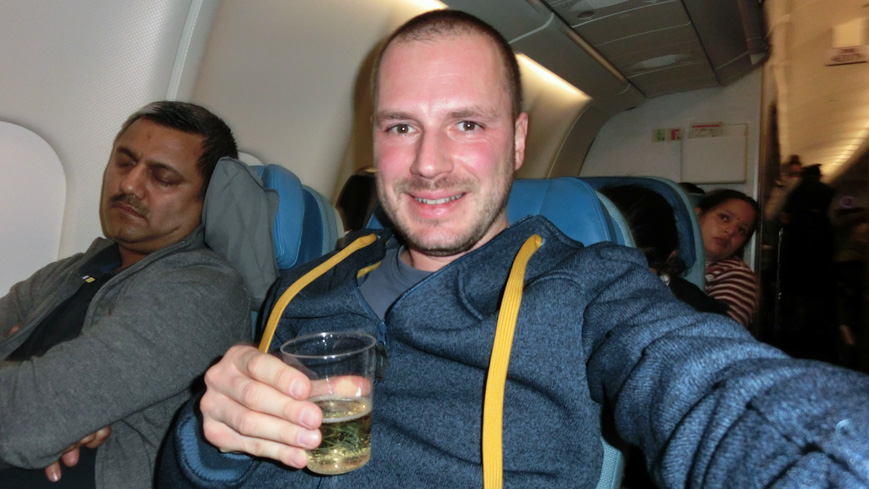 Bild: Gerhard zu Silvester in Turkish Airlines