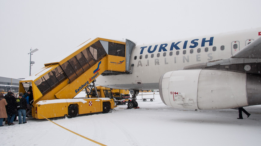 Bild: Turkish Airlines im Winter in Salzburg