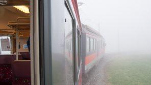 Bild: Appenzeller Bahn im Nebel