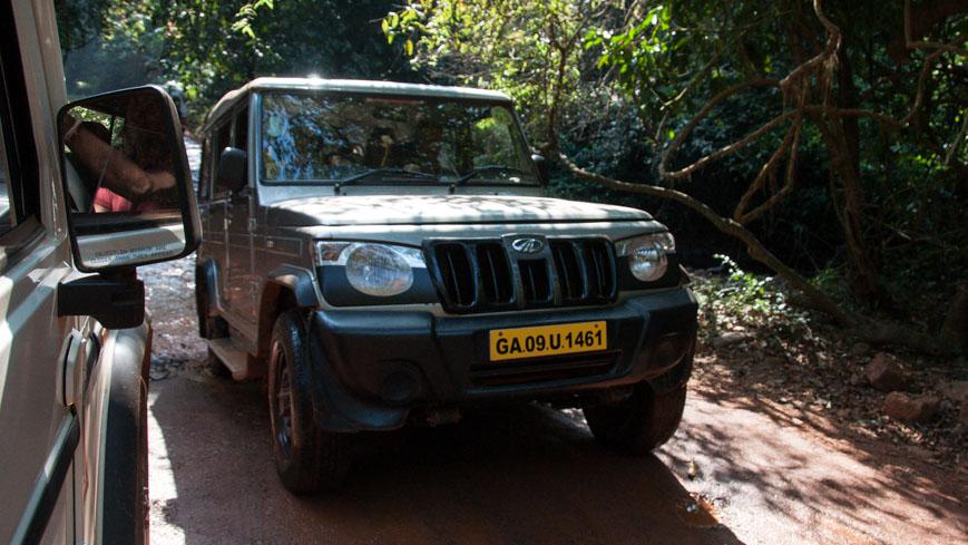 Bild: Geländewagen zu den Dudhsagar Wasserfällen