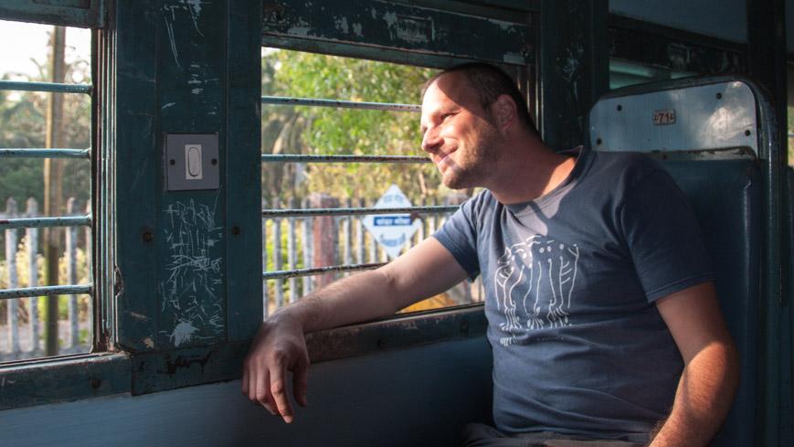 Bild: Gerhard im Zug