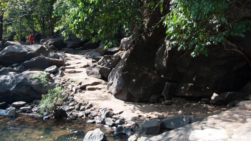 Bild: Weg zu den Dudhsagar Wasserfällen