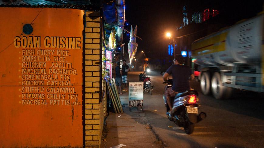 """Bild: """"Johns"""" Restaurant in Chaudi/Canacona in Goa"""