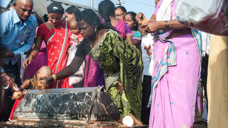 Bild: Coconut Hundi in Tirumala
