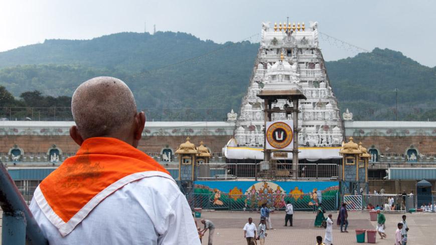 Bild: Tirumala Tempel bei Tirupati