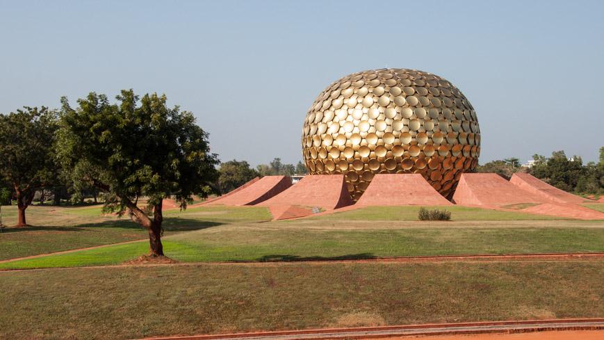 Bild: Matrimandir in Auroville
