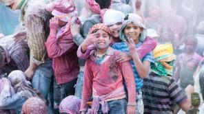 Bild: Holi in Mathura, Uttar Pradesh, Indien