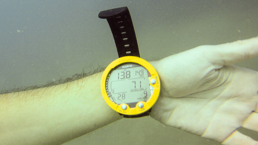 Bild: 28 Grad Wassertemperatur in 13,8 Matern Tiefe