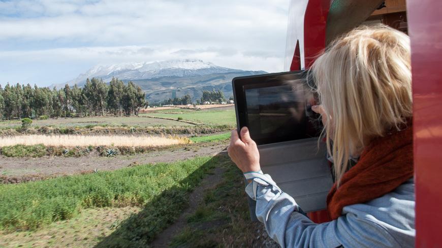 Bild: Chimborazo vom Zug aus in Ecuador