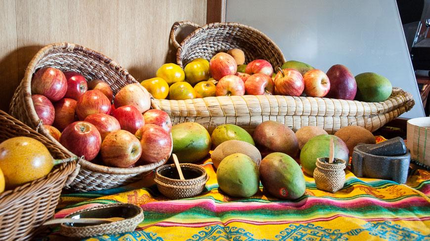 Bild: Obst im Tren Crucero