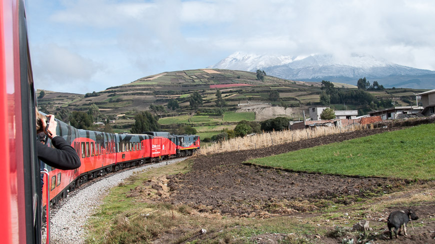 Bild: Tren Crucero am Weg zum Chimborazo