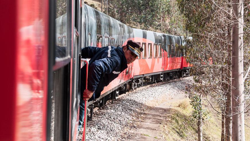 Bild: Mitarbeiter am Tren Crucero