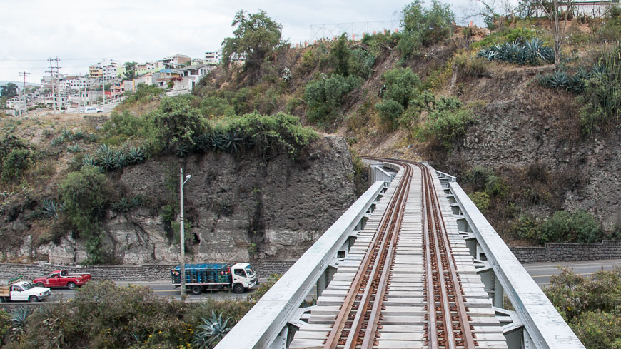 Bild: Schienen in Ecuador