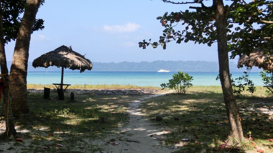 Bild: Strand an der Ostseite von Havelock