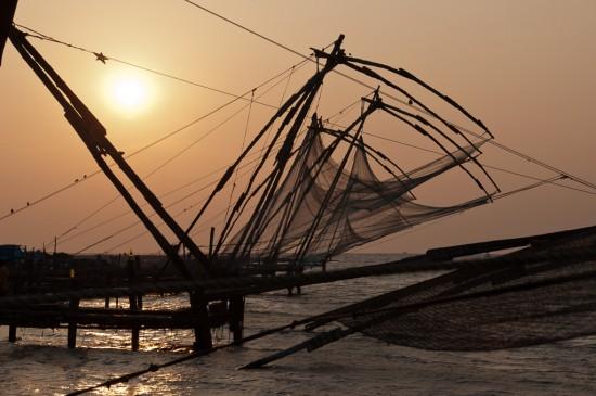 Bild: Fischernetz in Kochi