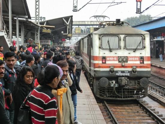 Bild: Zug in Indien