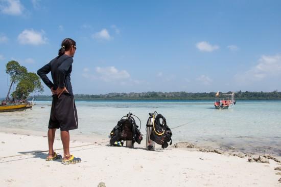 Bild: Taucher auf den Andamanen