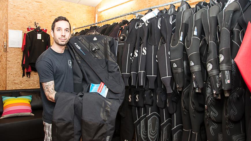 Bild: Flo Pöller von der Tauchbasis Austrian Divers am Attersee