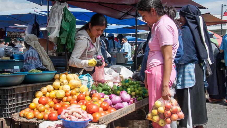 Bild: Gemüse-Markt Otavalo