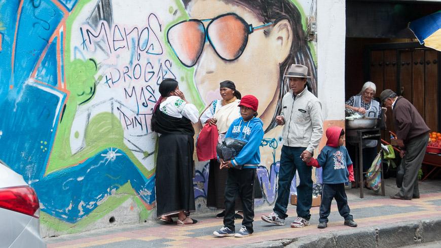 Bild: Grafitti in Otavalo, Ecuador