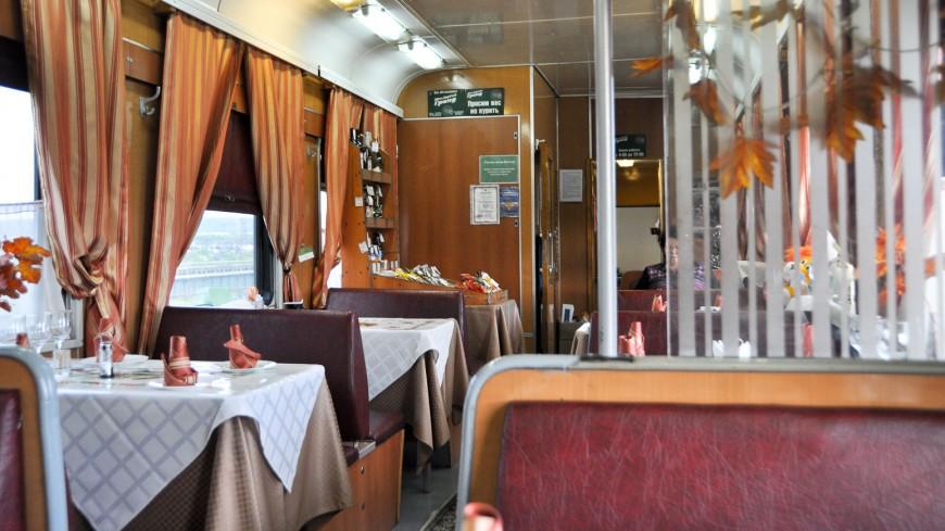 Bild: Speisewagen, Transsibirische Eisenbahn, Zug D8NJ