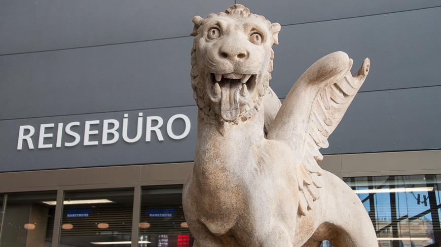 Bild: Markuslöwe am Wiener Hauptbahnhof
