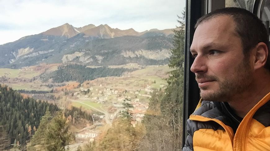 Bild: Gerhard Liebenberger im Bernina Express
