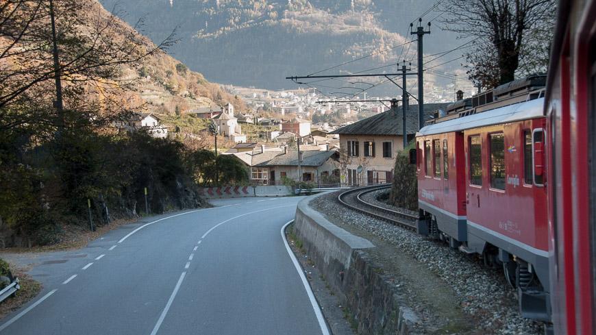 Bild: Bernina Express kurz vor Tirano